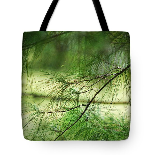 Green Light Tote Bag by Jenny Rainbow