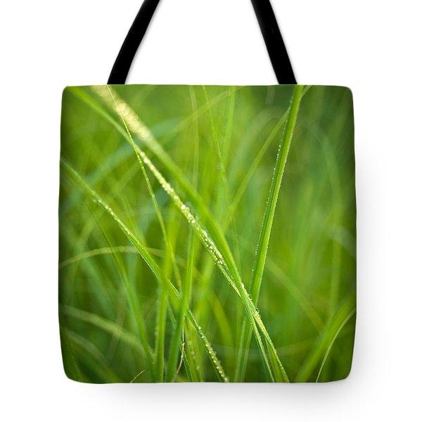 Green Prairie Grass Tote Bag by Steve Gadomski