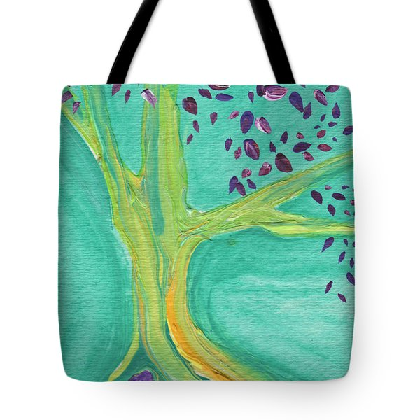 Green Tree Tote Bag by First Star Art