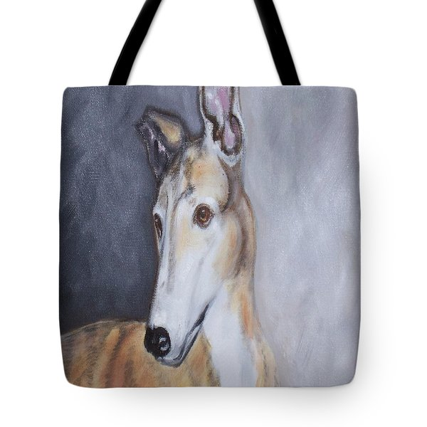 Greyhound In Thought Tote Bag by George Pedro
