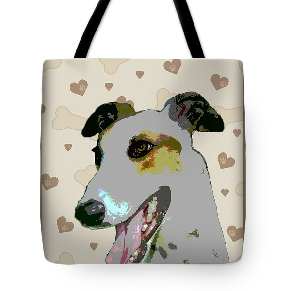 Greyhound Tote Bag by One Rude Dawg Orcutt