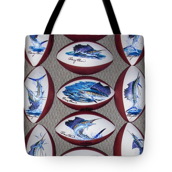 Gridiron Trophies Tote Bag by Carey Chen
