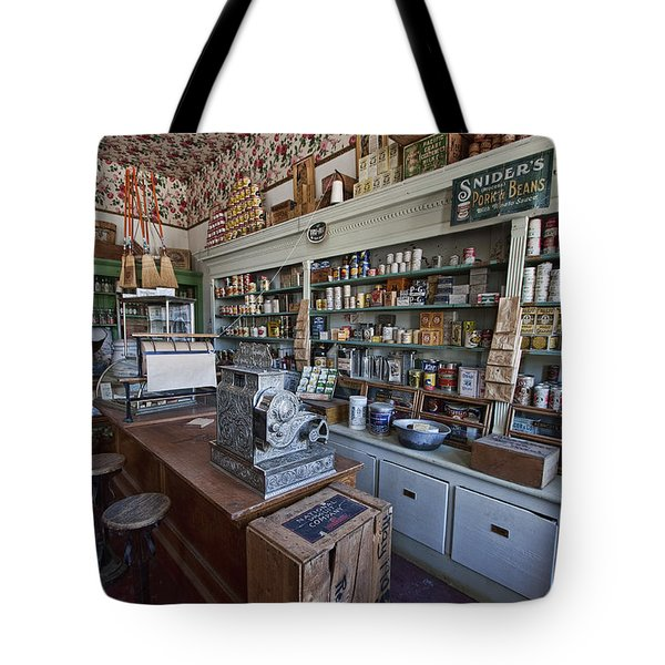 Grocery Store Of Yesteryear - Virginia City Montana Ghost Town Tote Bag by Daniel Hagerman