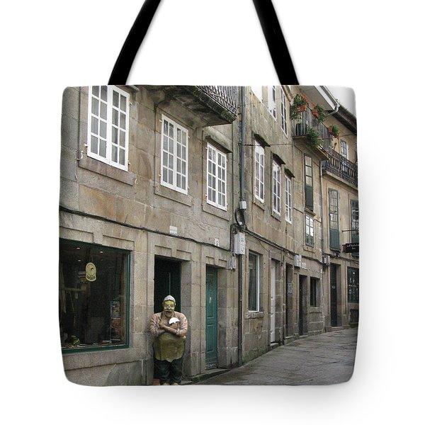Grumpy Tote Bag by Arlene Carmel