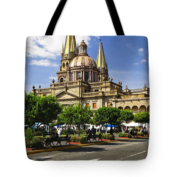 Guadalajara Cathedral Tote Bag by Elena Elisseeva