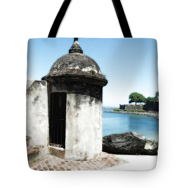 Guard Post Castillo San Felipe Del Morro San Juan Puerto Rico Diffuse Glow Tote Bag by Shawn O'Brien