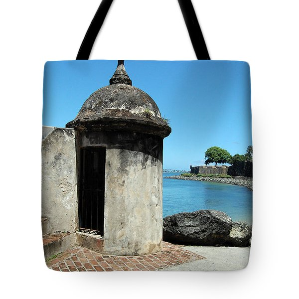 Guard Post Castillo San Felipe Del Morro San Juan Puerto Rico Tote Bag by Shawn O'Brien