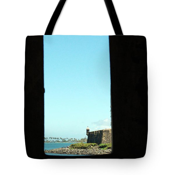 Guard Tower View Castillo San Felipe Del Morro San Juan Puerto Rico Tote Bag by Shawn O'Brien