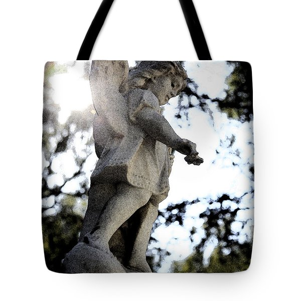 Guardian Angel With Light From Above Tote Bag by Nina Prommer