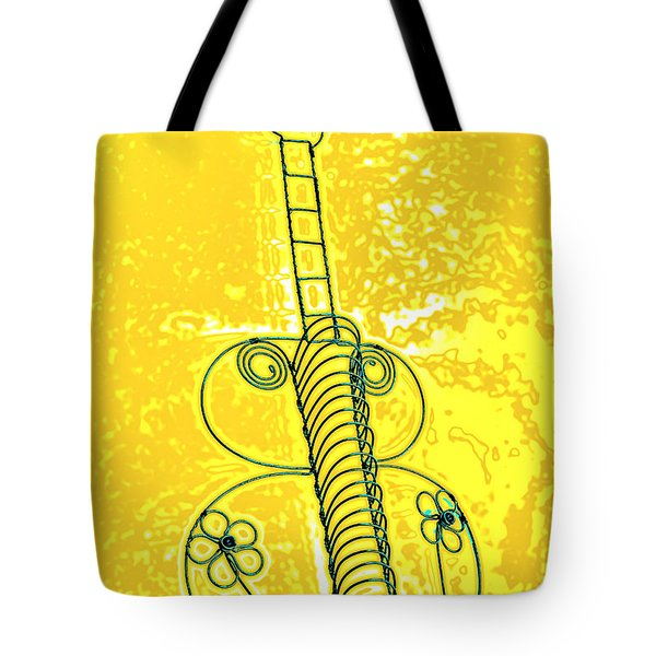 Guitar 2c Tote Bag by Mauro Celotti