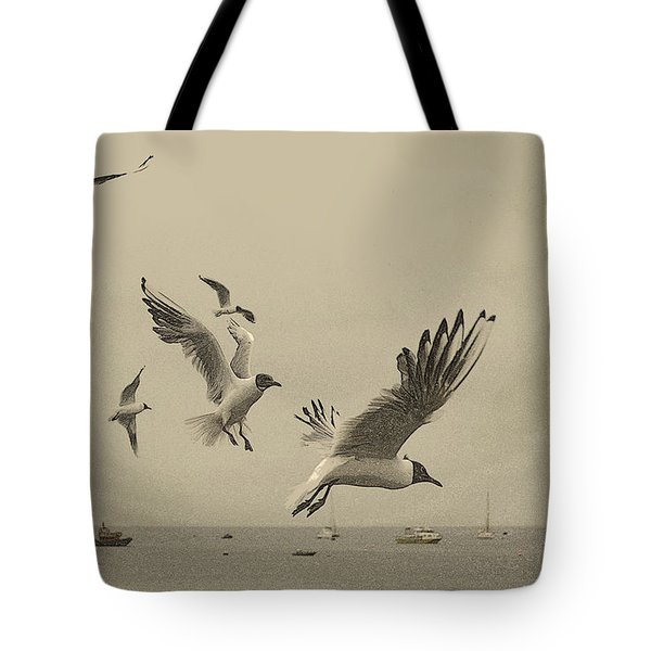 Gulls Tote Bag by Linsey Williams