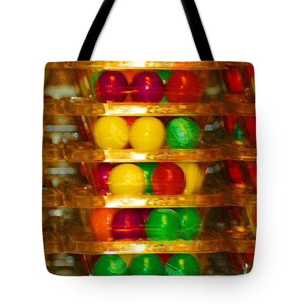 Gumball Candy Abstract Tote Bag by adSpice Studios
