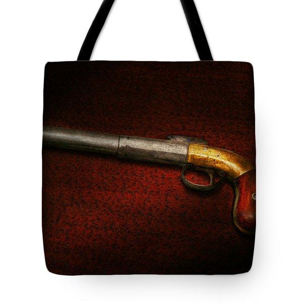 Gun - The Shooting Iron Tote Bag by Mike Savad