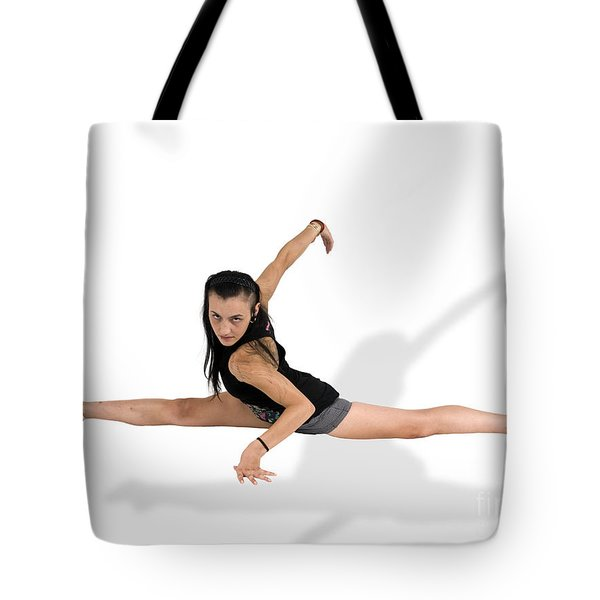 Gymnast Does The Splits Tote Bag by Ilan Rosen