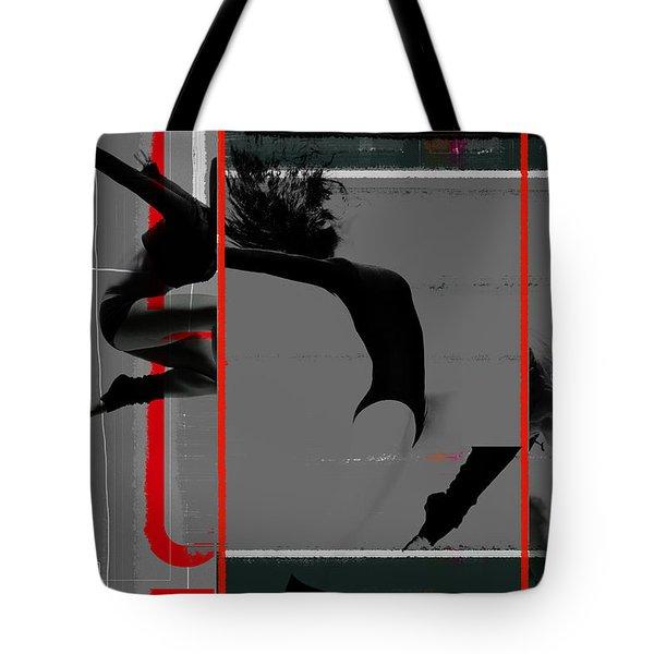 Gymnastics Tote Bag by Naxart Studio
