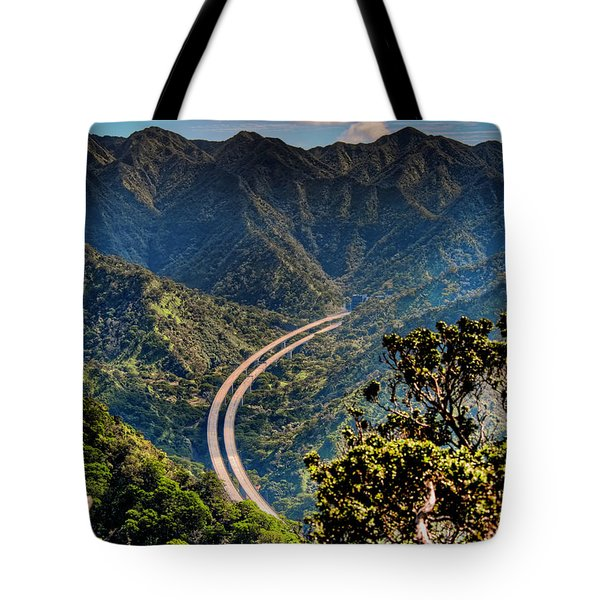 H-3 From The Aiea Loop Trail Tote Bag by Dan McManus
