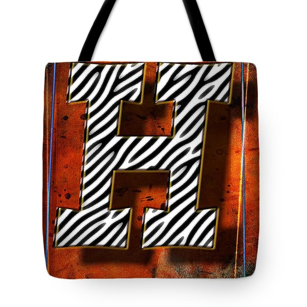 H Tote Bag by Mauro Celotti