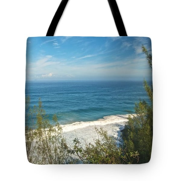 Haena State Park Overview Tote Bag by Michael Peychich