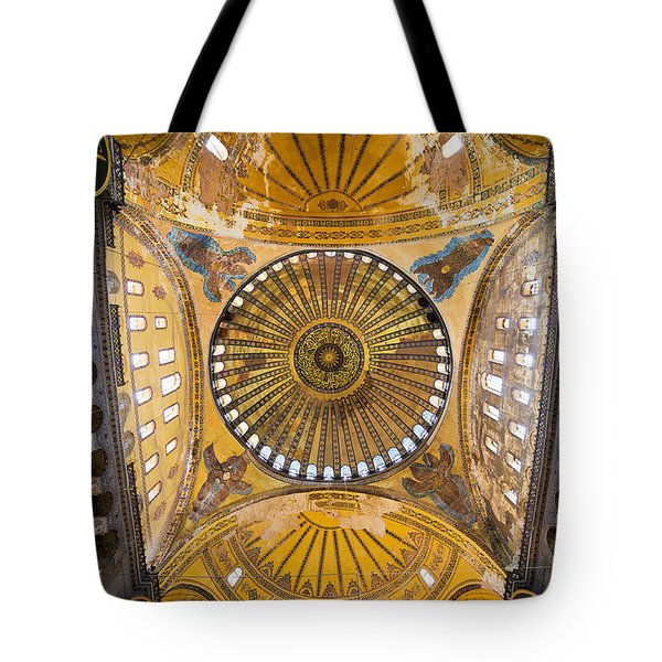 Hagia Sophia Ceiling Tote Bag by Artur Bogacki