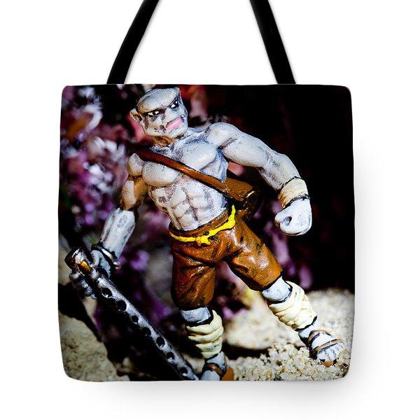 Half Orc Monk Tote Bag by Marc Garrido