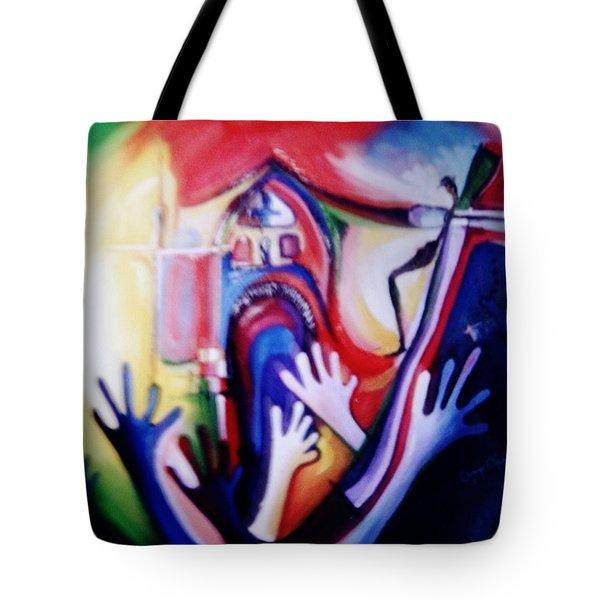 Hallelujah At Cathedral Tote Bag by Oyoroko Ken ochuko
