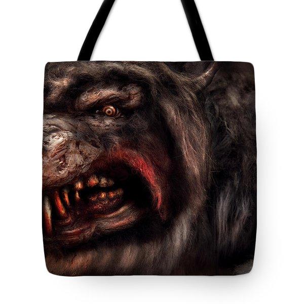 Halloween -  Mad Dog Tote Bag by Mike Savad