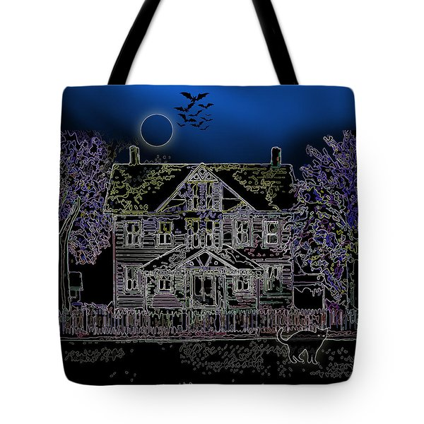 Halloween Haunt Tote Bag by Clara Sue Beym