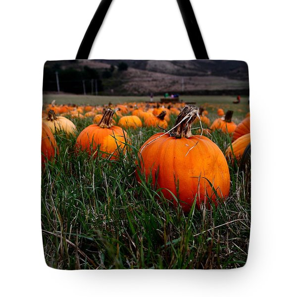 Halloween Pumpkin Patch 7D8405 Tote Bag by Wingsdomain Art and Photography