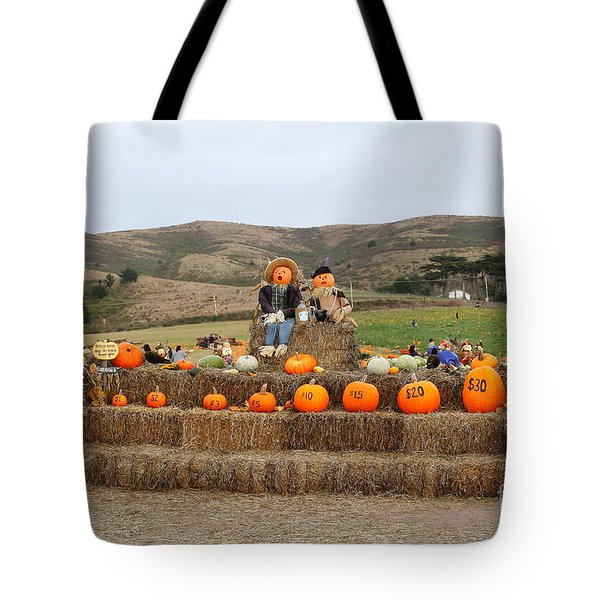 Halloween Pumpkin Patch 7D8478 Tote Bag by Wingsdomain Art and Photography