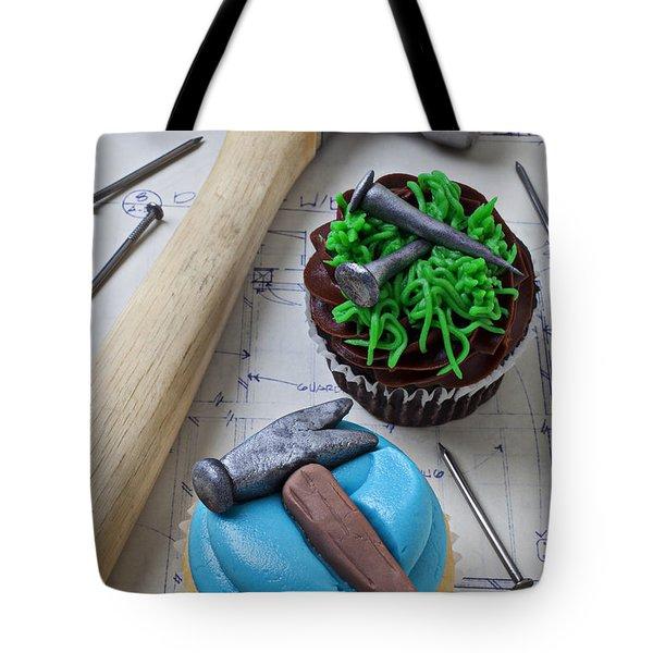 Hammer Cupcake Tote Bag by Garry Gay