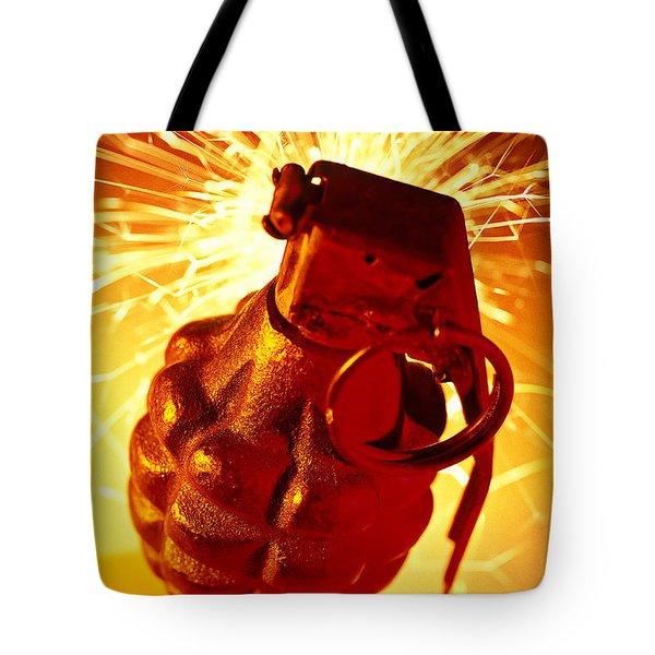 Hand Grenade  Tote Bag by Garry Gay