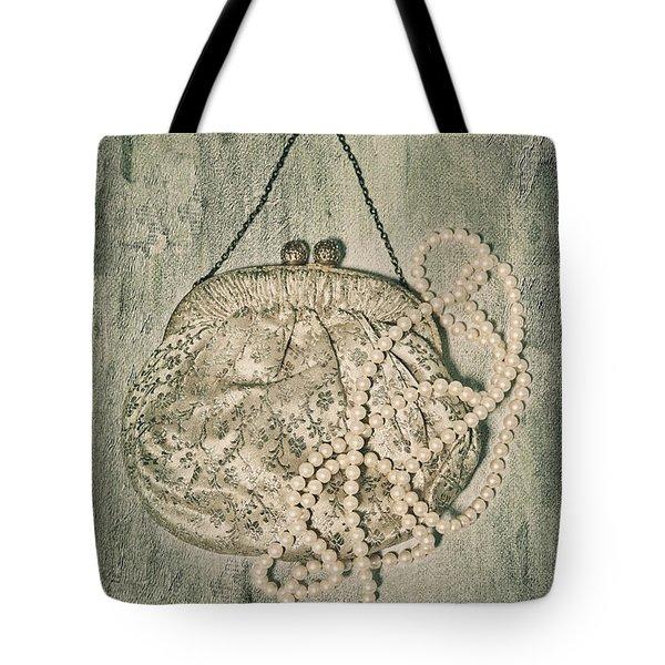 Handbag With Pearls Tote Bag by Joana Kruse