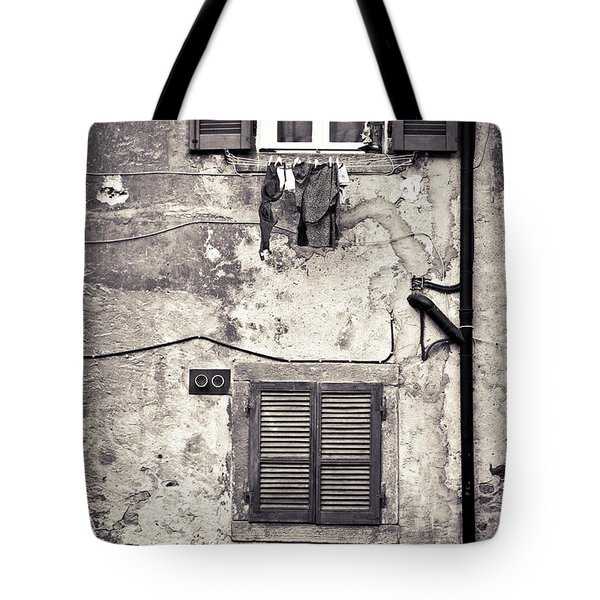 Hanging Out To Dry Tote Bag by Silvia Ganora