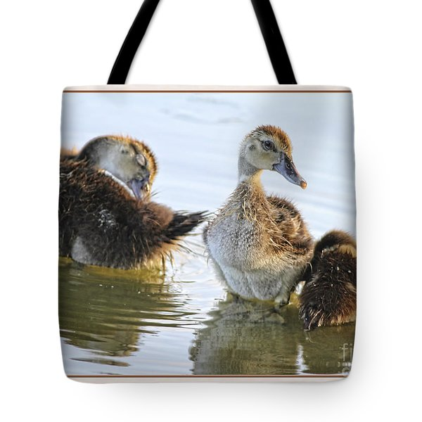 Hanging With The Buds Tote Bag by Deborah Benoit