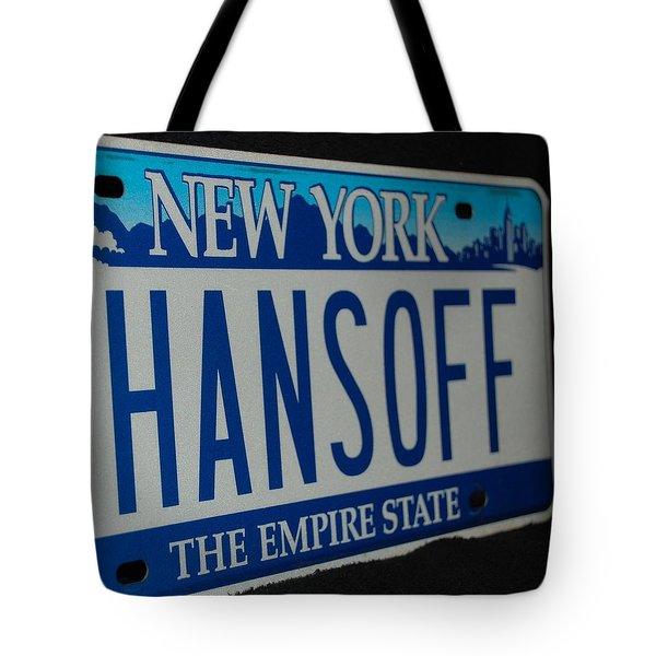 Hans Off Tote Bag by Rob Hans