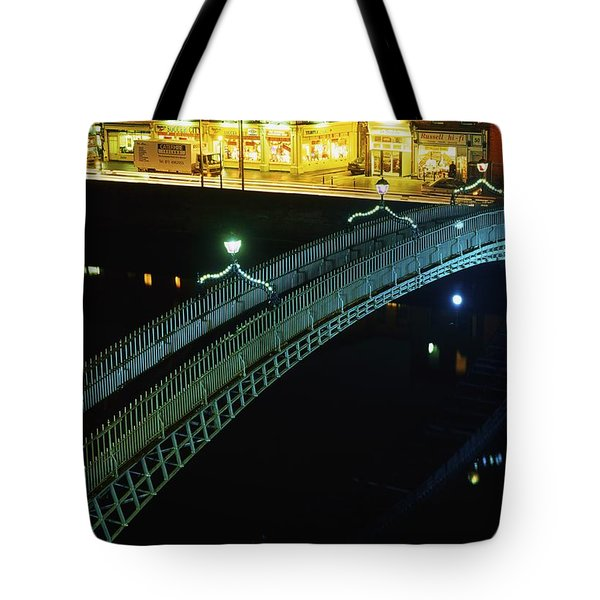 Hapenny Bridge, Dublin City, Co Dublin Tote Bag by The Irish Image Collection