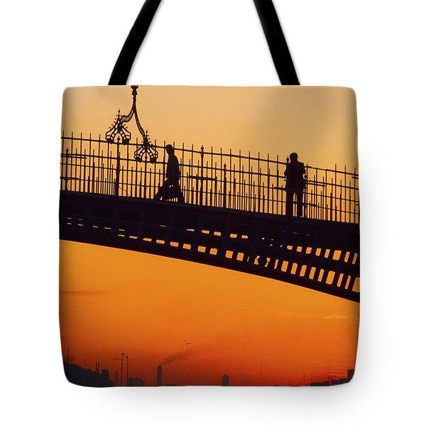 Hapenny Bridge, Dublin, Co Dublin Tote Bag by The Irish Image Collection