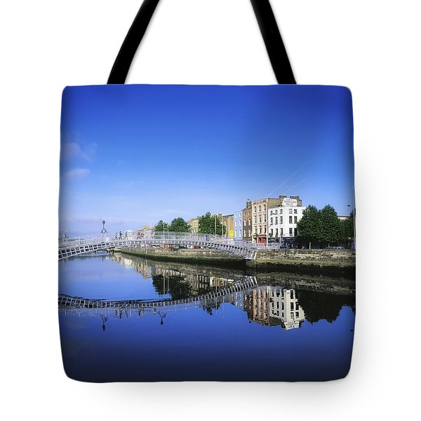 Hapenny Bridge, River Liffey, Dublin Tote Bag by The Irish Image Collection