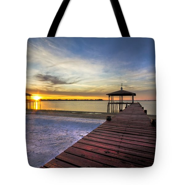 Happiest Hour Tote Bag by Debra and Dave Vanderlaan