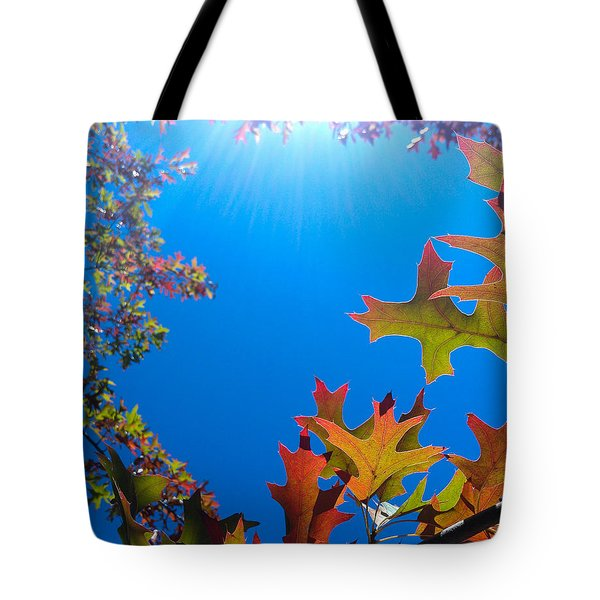 Happy Autumn Tote Bag by CML Brown