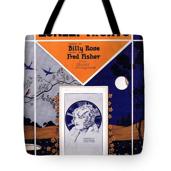 Happy Days And Lonely Nights Tote Bag by Mel Thompson