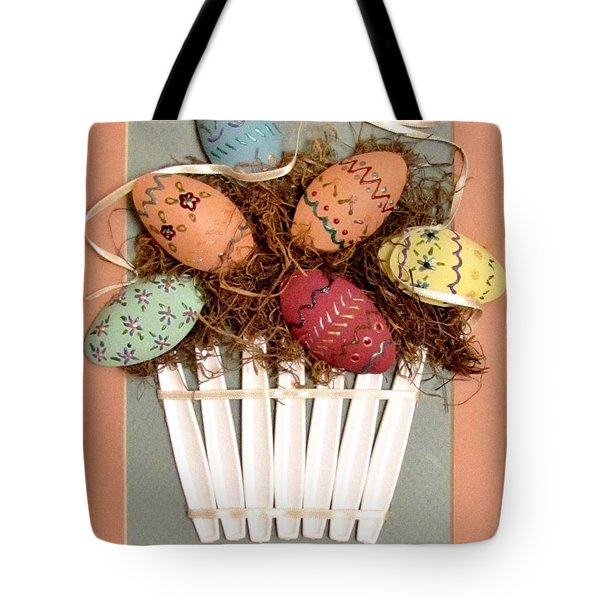 Happy Easter Tote Bag by Marilyn Smith