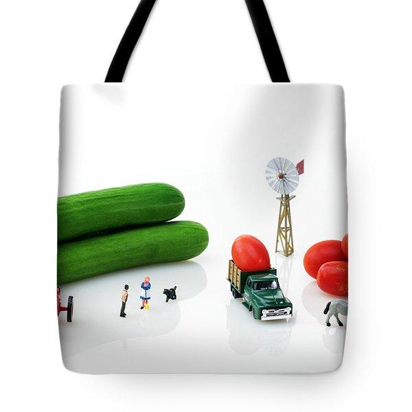 Happy Farm Tote Bag by Paul Ge