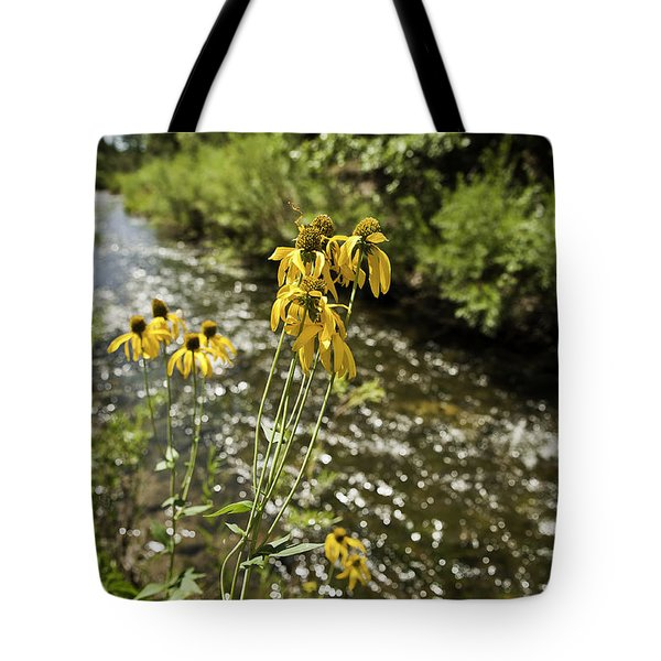 Happy Flowers Tote Bag by Melany Sarafis