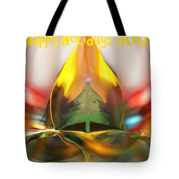 Happy Holidays 2012 Tote Bag by David Lane