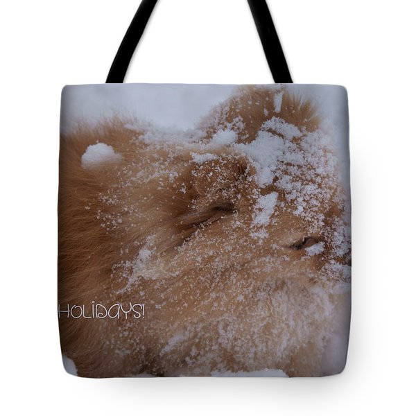 Happy Holidays Christmas Card Tote Bag by Joanne Smoley