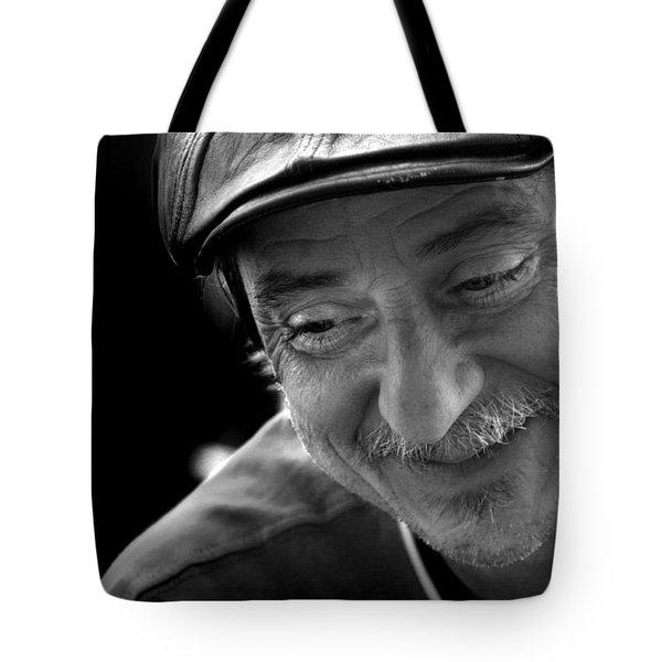 Happy Man Tote Bag by Kelly Hazel