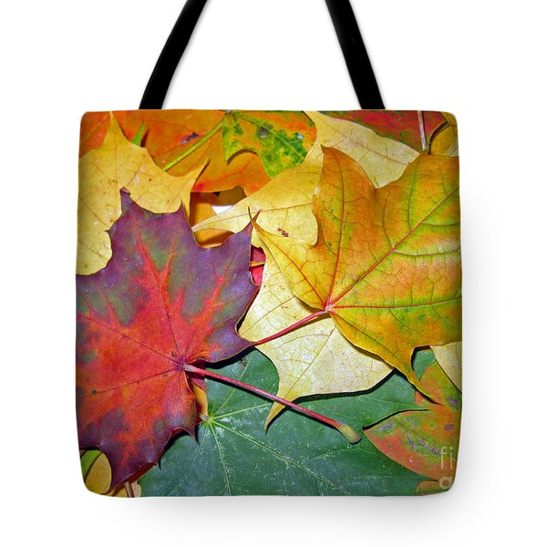 Happy We Are Together Tote Bag by Ausra Paulauskaite