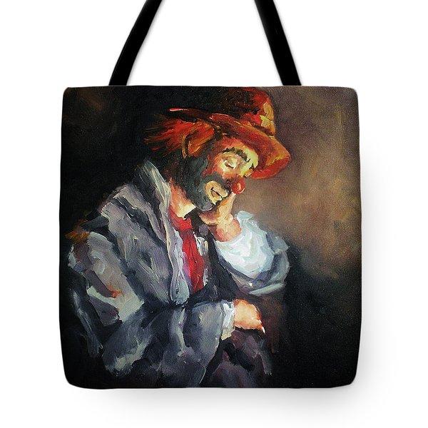 Happy While He Dreams Tote Bag by Natalia Tejera