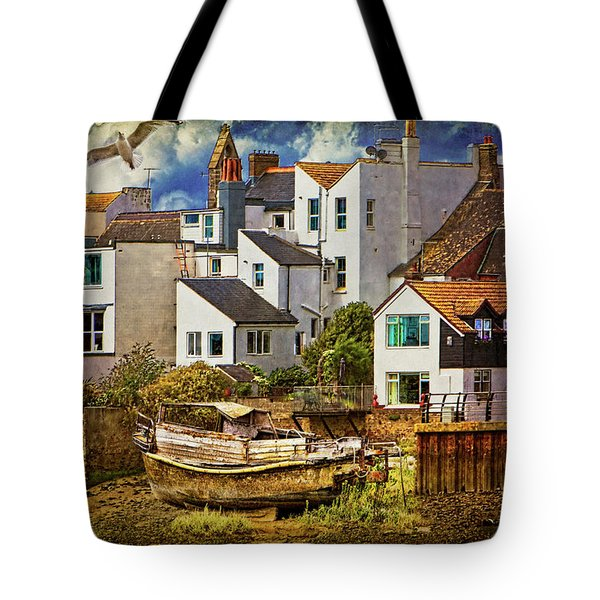Harbor Houses Tote Bag by Chris Lord